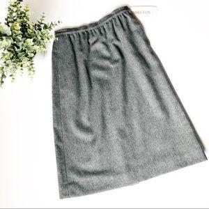 Pendleton Vintage 100% Wool Gray Skirt Sz 6 Petite